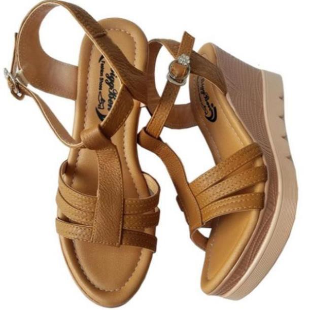 [Sale 3/3]Giày sandal xuồng nữ BIGGBEN da bò thật cao cấp HKD047 -x13