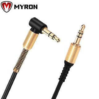 MYRON Phone Stereo 90 Degree Car Speaker Nylon Braid 3.5mm Audio Cable