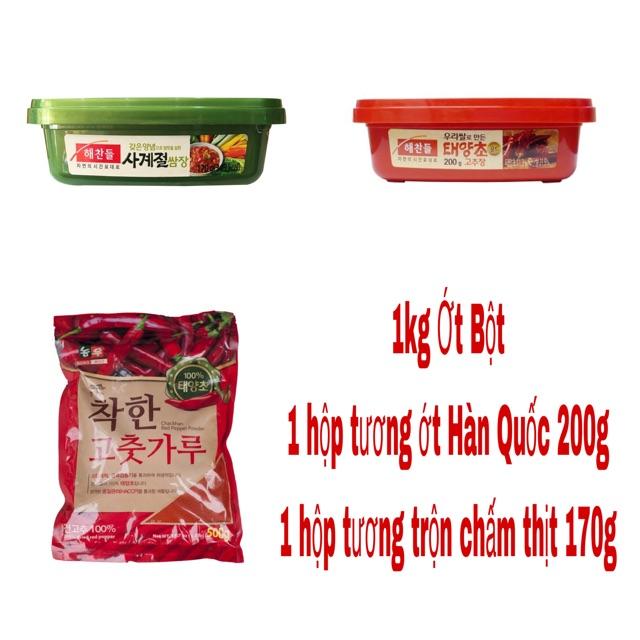 COMBO 1KG BỘT ỚT + 1 HỘP TƯƠNG ỚT GOCHUJANG 200G+Tương trộn Ssamjang Hàn Quốc hộp 170gr - 2819181 , 705866077 , 322_705866077 , 220000 , COMBO-1KG-BOT-OT-1-HOP-TUONG-OT-GOCHUJANG-200GTuong-tron-Ssamjang-Han-Quoc-hop-170gr-322_705866077 , shopee.vn , COMBO 1KG BỘT ỚT + 1 HỘP TƯƠNG ỚT GOCHUJANG 200G+Tương trộn Ssamjang Hàn Quốc hộp 170gr