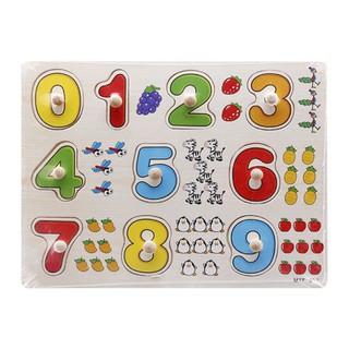 Bảng ghép hình 10 số
