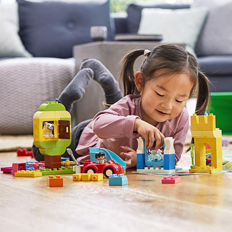 【Chính Hãng Được Cấp Phép】LEGO(LEGO)Depot Series 10914 Sang Trọng Đầy Màu Sắc Thùng Mới Đồ Chơi Cq1R