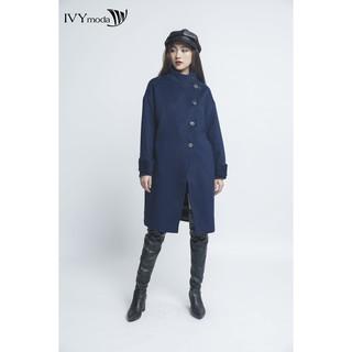 [Mã WABR1550 - 10% - ĐH từ 250K]Áo khoác dạ nữ cổ cao dáng dài IVY moda MS 71M4093 thumbnail