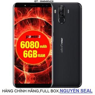 điện thoại ULEFONE POWER 3 RAM 6GB,PIN 6080mAh màu đen thumbnail