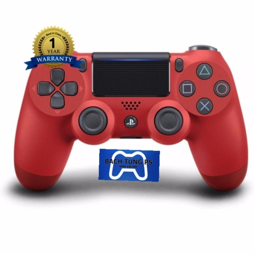 Tay cầm chơi game Playstation 4 Sony Dual Shock 4 Wireless Controller CUH -ZCT2 (Red)