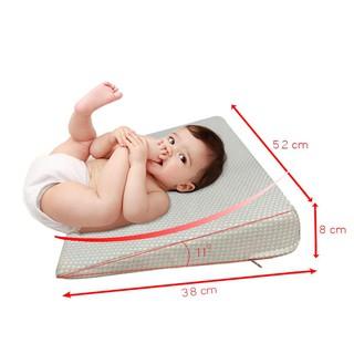 Gối chống trào ngược cho bé YOROKOBI - siêu thấm hút, siêu rộng, chống trơn trượt, đảm bảo lưu thông máu não
