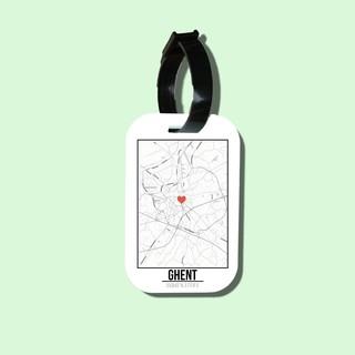 Travel tag cho túi xách balo du lịch in hình Love City - Ghent thumbnail