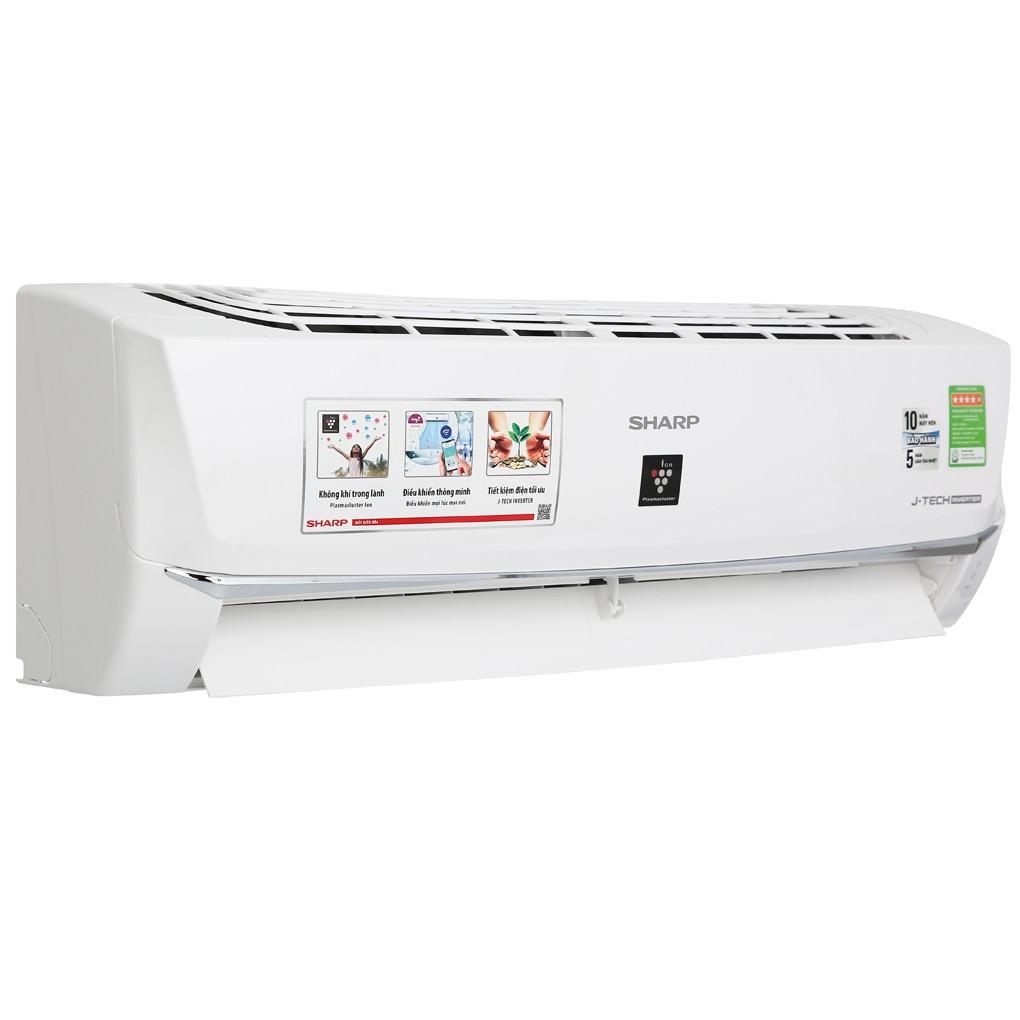 MIỄN PHÍ CÔNG LẮP ĐẶT - XP10WHW - Máy lạnh Sharp Inverter 1 HP AH-XP10WHW Mẫu 2019