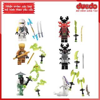 Combo 6 nhân vật Ninjago DECOOL 10047-10052 Đồ chơi Lắp ghép Xếp hình Minifigures Mini Ninja Mô hình thumbnail