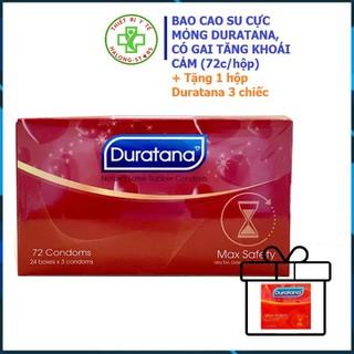 Bao Cao Su Duratana cực mỏng có gai kích thích hưng phấn, tăng cường khoái cảm - Hộp 72 cái. Tặng 1 hộp 3 chiếc Duratana thumbnail