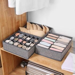 Combo 3 hộp vải đựng bảo quản đồ lót, khay đựng quần áo tất vớ bằng vải không dệt tiết kiệm diện tích 6, 7, 24 ngăn