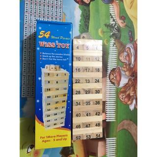 Trò chơi rút gỗ 54 thanh size bé