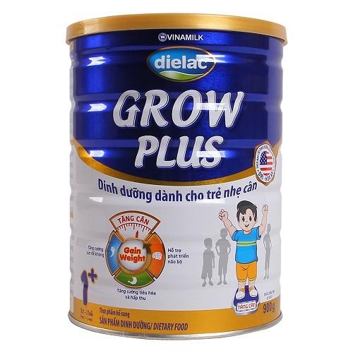 Sữa bột Vinamilk Dielac Grow Plus (Xanh) 1+ hộp thiếc 900g