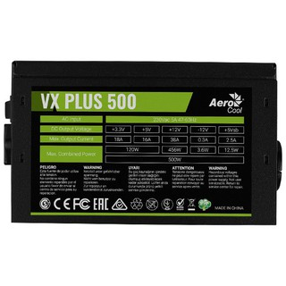 Nguồn Máy Tính AEROCOOL VX PLUS 500W thumbnail