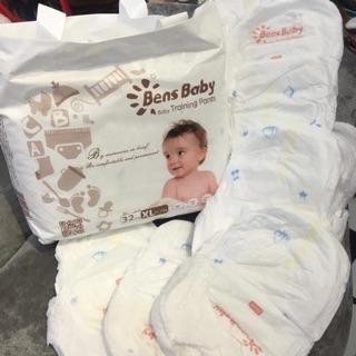 Bỉm tã quần bens baby size M40/L36/XL32/XXL30 miếng ( hàng nội địa trung)