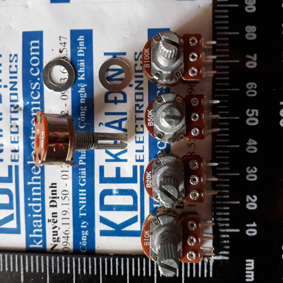 [GIÁ SỐC] TRIẾT ÁP, BIẾN TRỞ VOLUME WH148 ĐÔI, 15mm, loại ngắn 1k/2k/5k/10k/20k/50k/100k/500k kde2460 GIÁ SỐC