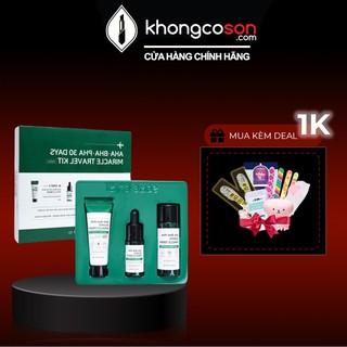Bộ Kit 3 Món giảm mụn Thần Kỳ Some By Mi AHA - BHA - PHA 30 Days Miracle Travel Kit (Toner, Serum, Cream) - Khongcoson thumbnail