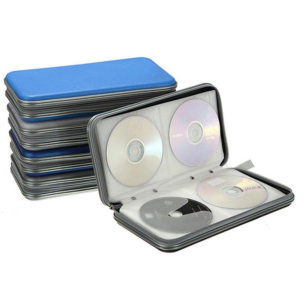 •NEW•Zipper Closure Disc Storage Case 80 PCS CD VCD DVD Holder Portable Hard Box