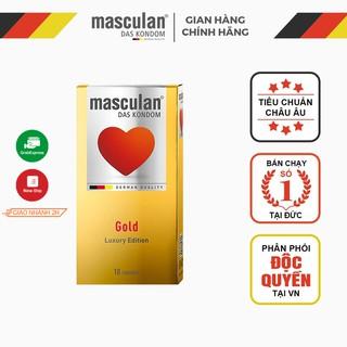 Bao cao su Đức Masculan - Ánh vàng sang trọng - Gold Luxury Edition - 10 bao thumbnail