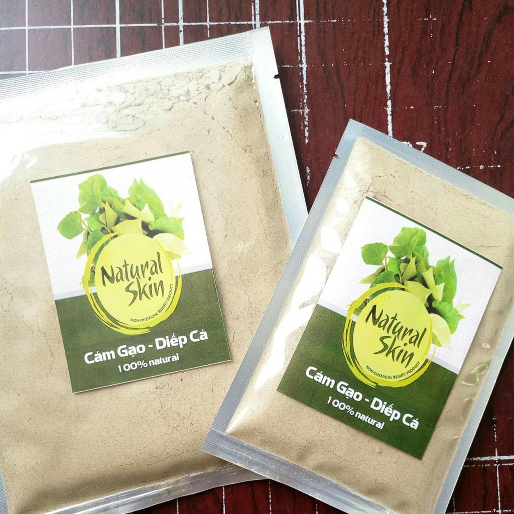 Bột Cám gạo Diếp cá Natural Skin 100g siêu mịn