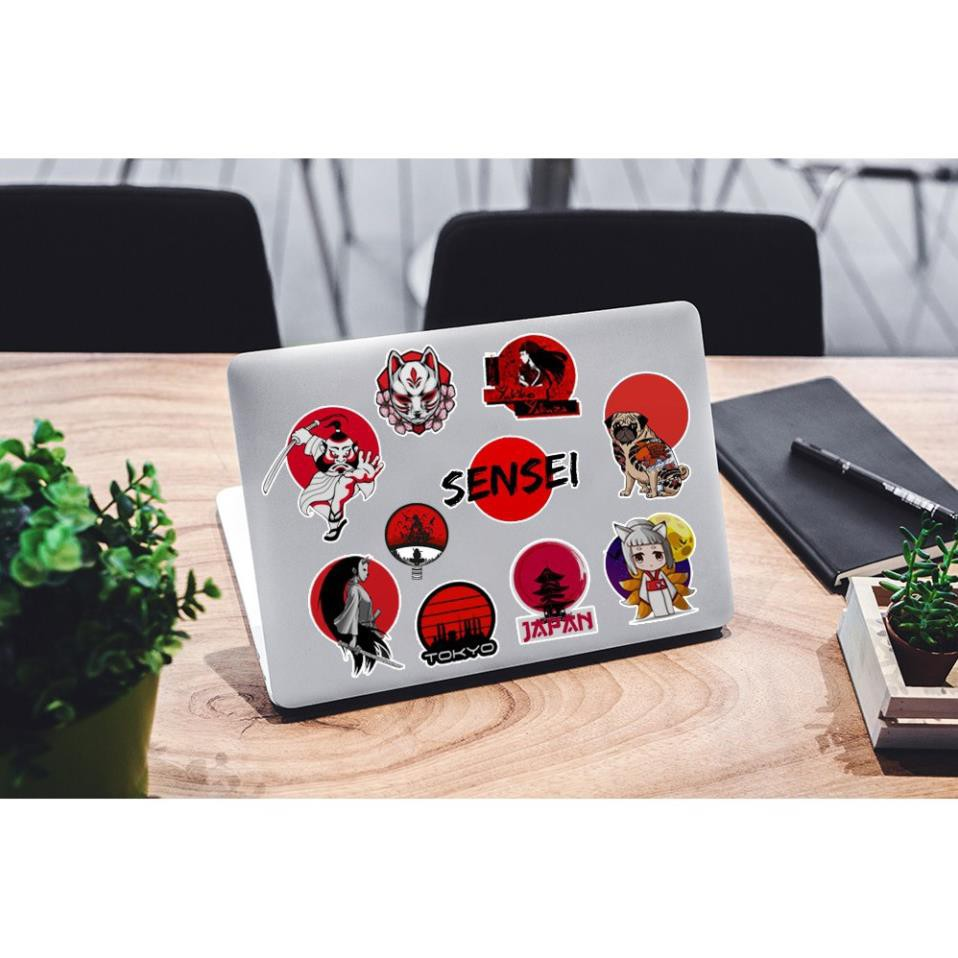 [Set 100+] Sticker Japan Nhật Bản | Dán Nón Bảo Hiêm, Điện Thoại, Laptop, Bình Nước...Chống Nước, Chống Bay Màu