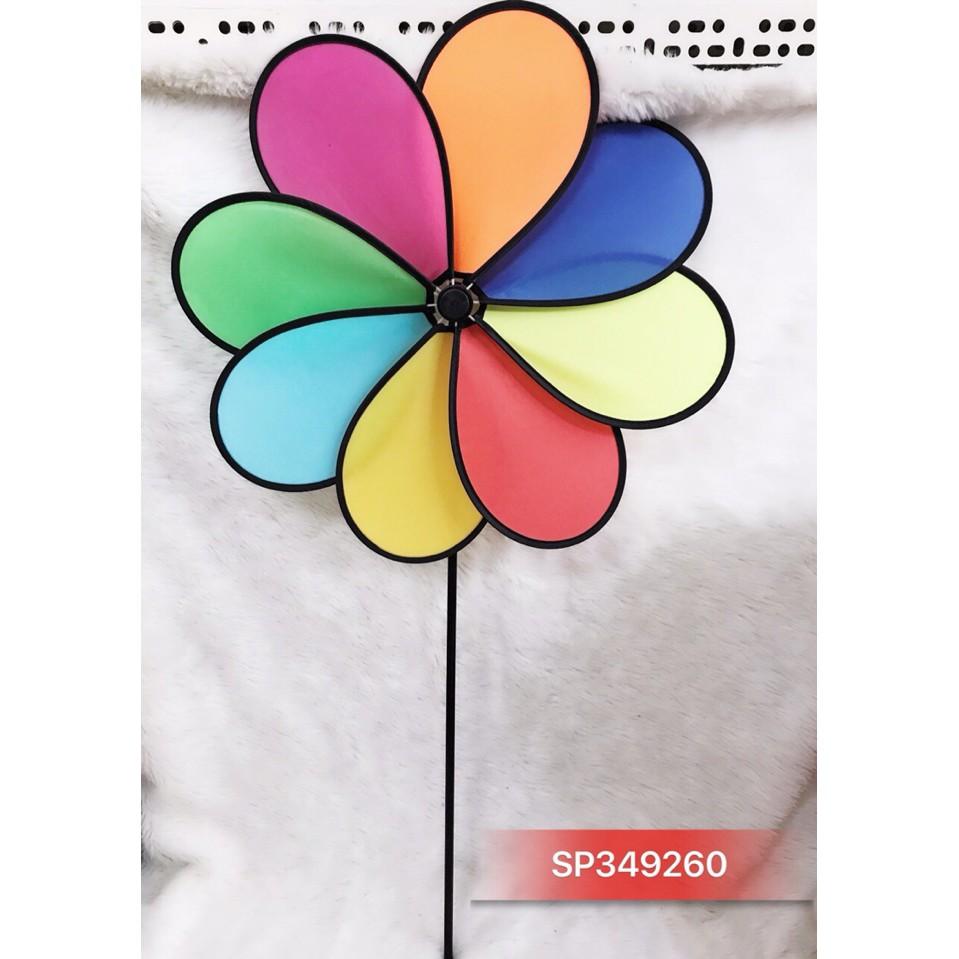 Chong chóng cầu vồng vải 8 cánh đại ( đường kính 50cm) - SP349260