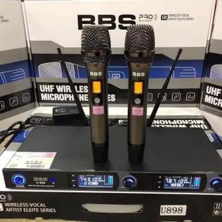 Mic không dây bbs u898 hát karaoke chuyên nghiệp hát hay tiếng sáng dày trầm mic hút không hú không rè bảo hành 12 tháng