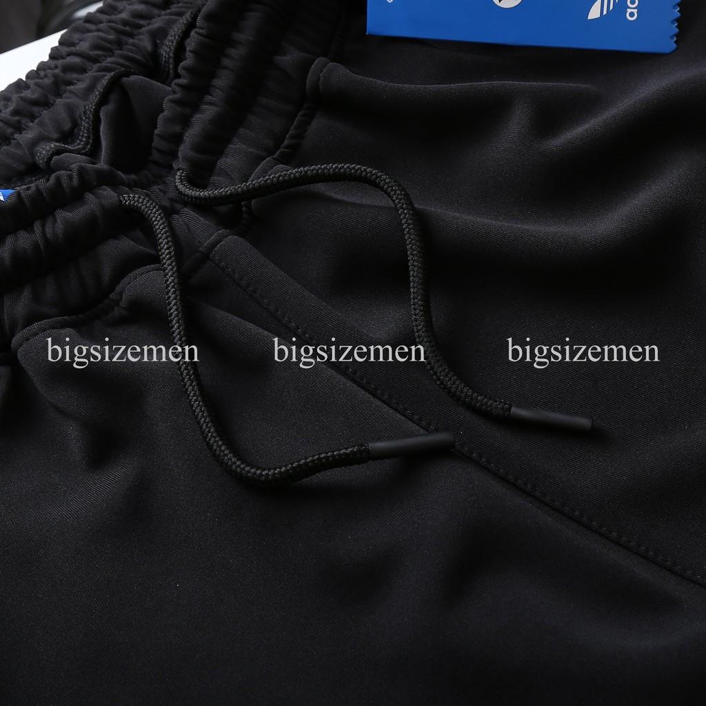 [bigsize < 140kg ] Quần thun jogger nam bigsize lưng thun dài ống túm có 3 sọc ngắn