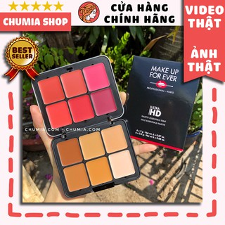 Bảng kem nền, má hồng MAKE UP FOR EVER Ultra HD Invisible Cover Cream Foundation Palette - 12 Colors thumbnail