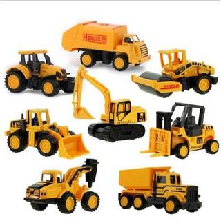 8pcs/set Alloy Construction Vehicle Engineering Dump Truck Model Toy LY804