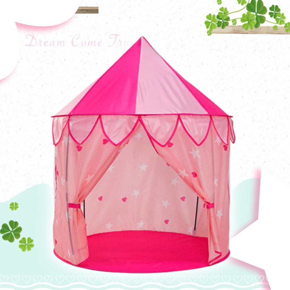 babifry Princess House Large Indoor Children Tent Toy Folding Playing Game Castle