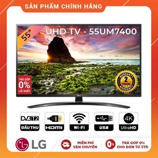 Smart Tivi LG 55 Inch UHD 4K 55UM7400PTA Model 2019 - Có Magic Remote (Chính Hãng)
