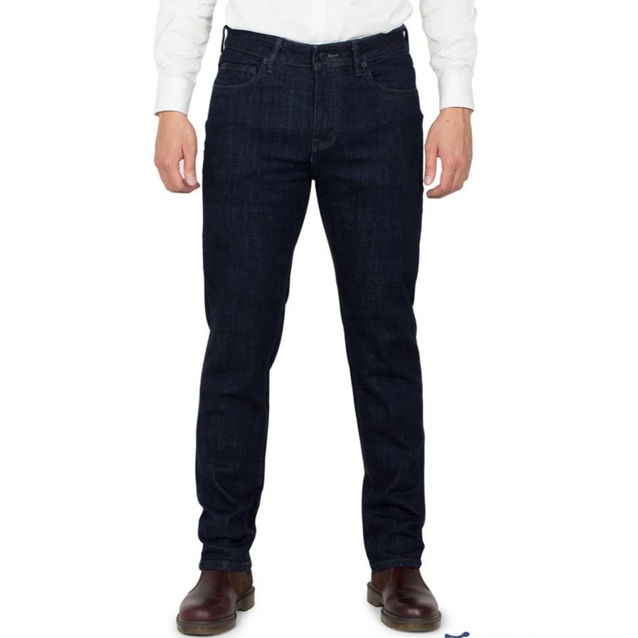 Quần jeans nam Kojiba dáng slimfit siêu bền màu xanh đen - Quần Jean