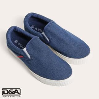 Giày slipon nữ D&A L1507 xanh bò