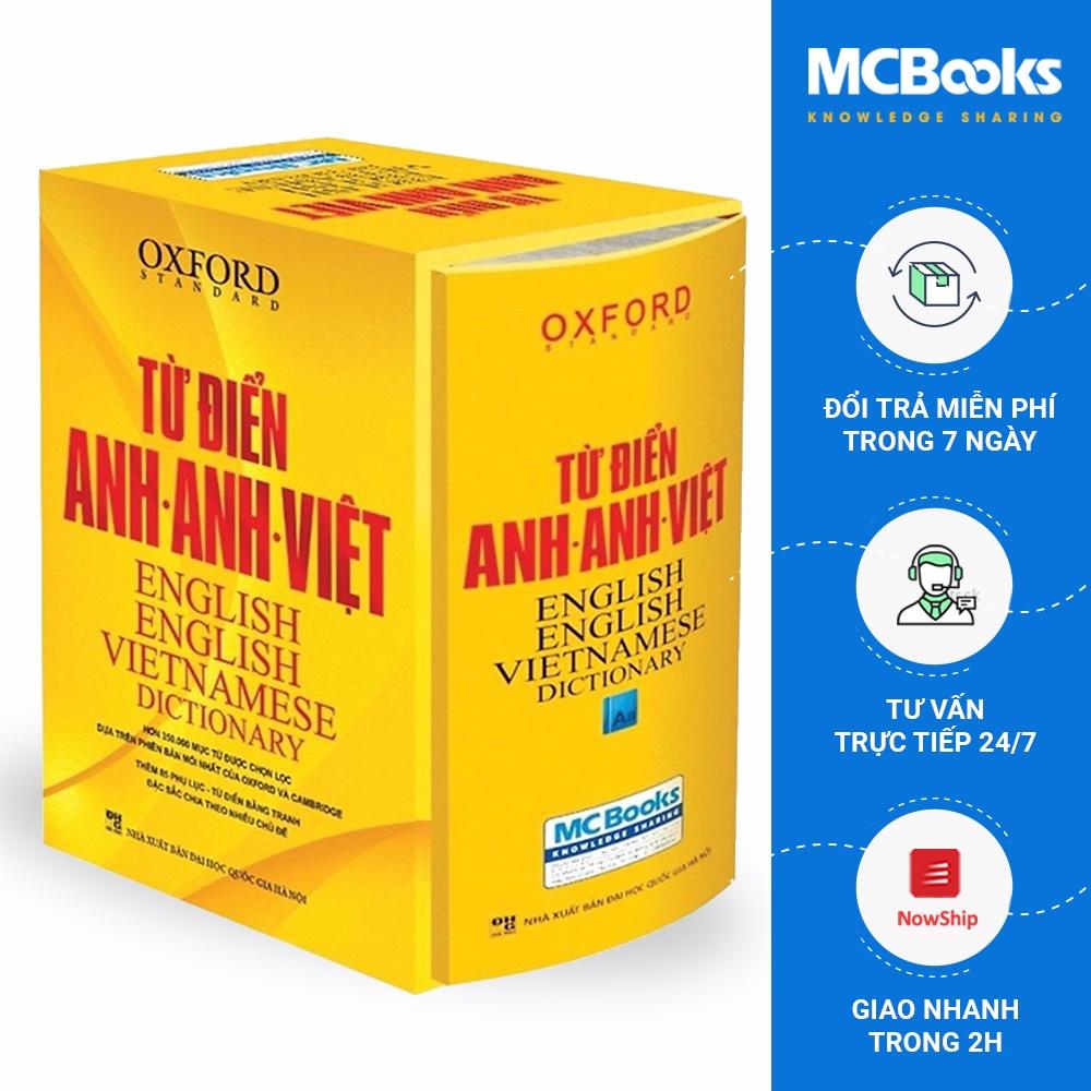 Sách - Từ Điển Anh Anh Việt Phiên Bản Bìa Cứng Màu Vàng - Giải Nghĩa Đầy Đủ Ví Dụ Phong Phú