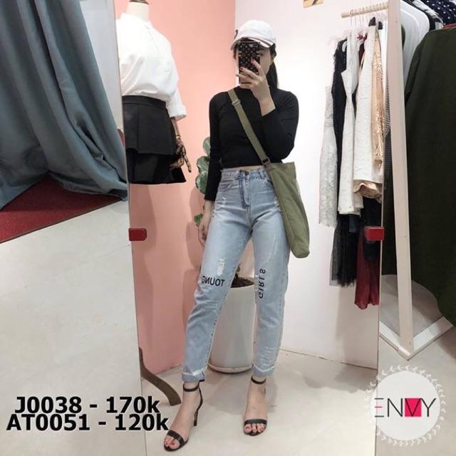 Quần baggy jeans nữ hoạ tiết chữ ENVY - J0038 - 3132602 , 1245309350 , 322_1245309350 , 170000 , Quan-baggy-jeans-nu-hoa-tiet-chu-ENVY-J0038-322_1245309350 , shopee.vn , Quần baggy jeans nữ hoạ tiết chữ ENVY - J0038