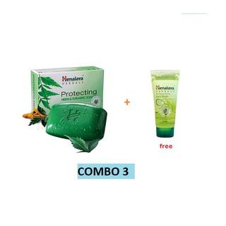 Combo 3 xà phòng trị mụn lưng Himalaya Neem Tumeric Soap 75g sản phẩm