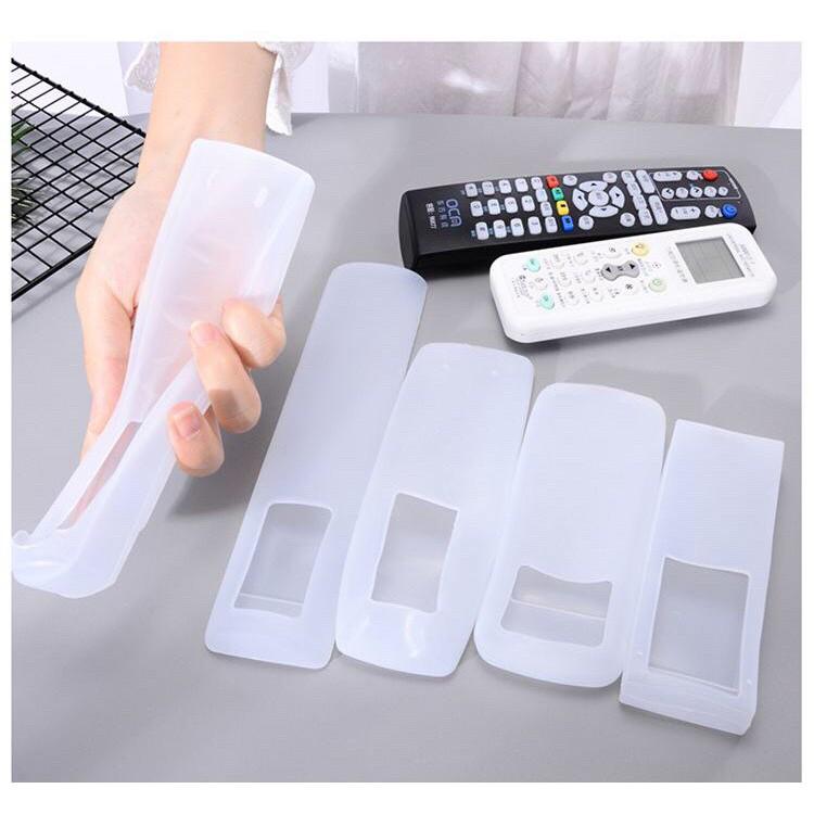 Bọc điều khiển (remote) tivi, điều hòa bằng nhựa silicon dẻo trong suốt, tai thỏ