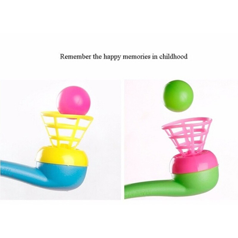 adore 3Pcs magic floating ball game kids gift toys blow pipe balls for party game craving
