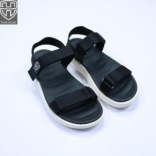 Giày Sandals Unisex TheHusk 2 Quai Ngang Màu Đen Đế Trắng - TH12 thumbnail