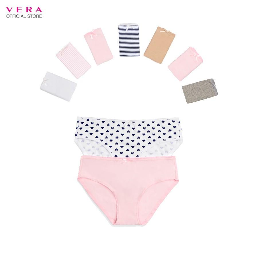 Combo 10 quần lót nữ cotton Modern Brief có họa tiết VERA 8398