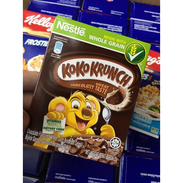  2 Hộp Bánh Ngũ Cốc Ăn Sáng  Nestle KoKoKrunch Great Chocolatey Taste 25g