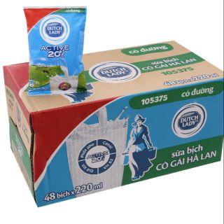 Sữa tươi có đường Cô gái Hà Lan bịch 220ml