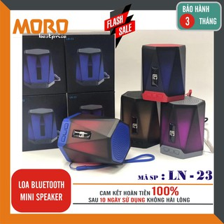 Loa Bluetooth mini LN-23 - Âm bass cực đỉnh - Chất lượng tuyệt đối – Thiết kế nổi bật – Đèn led Ngọn Lửa đổi màu