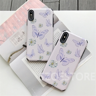 Beautiful Purple Butterfly Skin-Friendly Silk Pattern Soft Phone Case Cover for iPhone 11 Pro Max X XS XR XSMax 8 7 6 6s Plus SE 2020