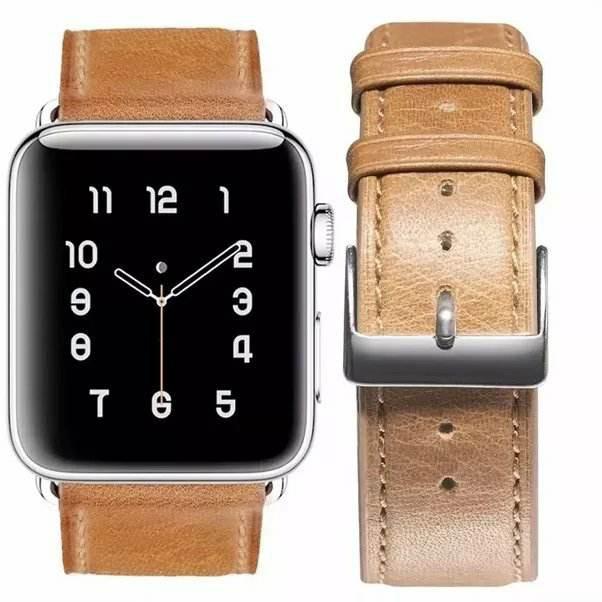 [42mm] Dây da bò 100% đồng hồ Apple Watch