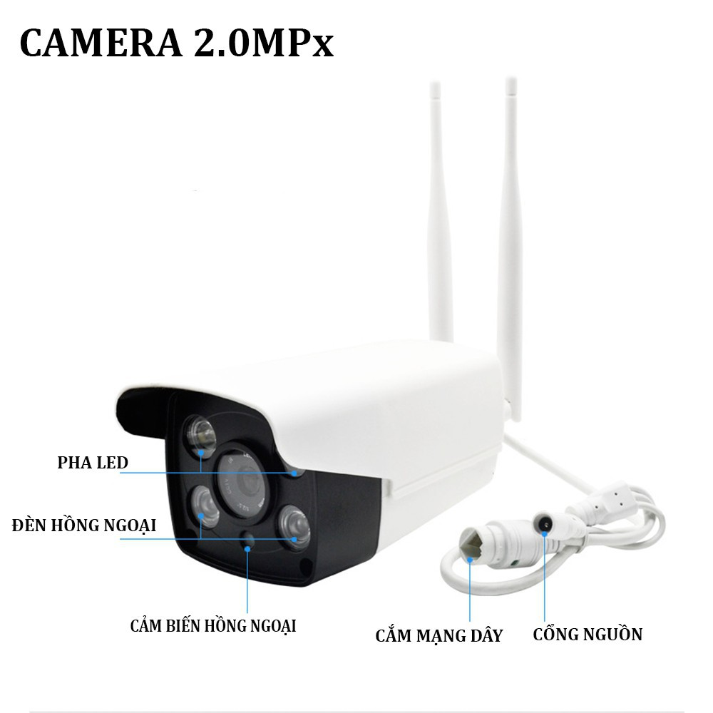Camera Giám Sát Ngoài Trời Yoosee 2 Râu X7100 - Độ phân giải 2.0MPX