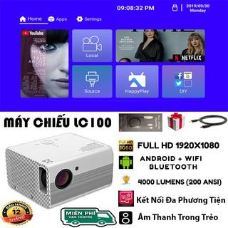 Máy Chiếu Full HD 1920×1080 LC100 Tích Hợp Hệ Điều Hành Android Với Độ Sáng Cao – Rạp Phim Tại Nhà