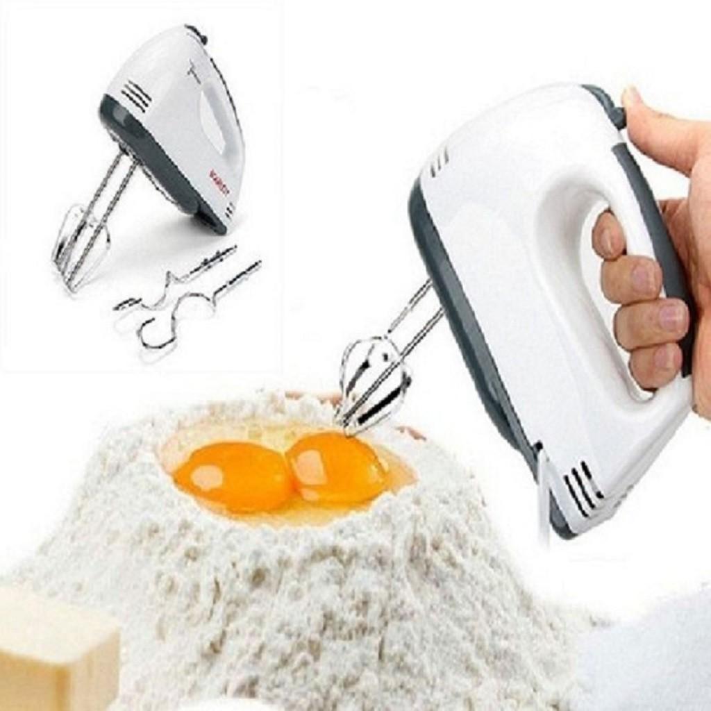 Máy Đánh Trứng Cầm Tay 7 Tốc Độ Tặng Kèm Que Đánh Trứng