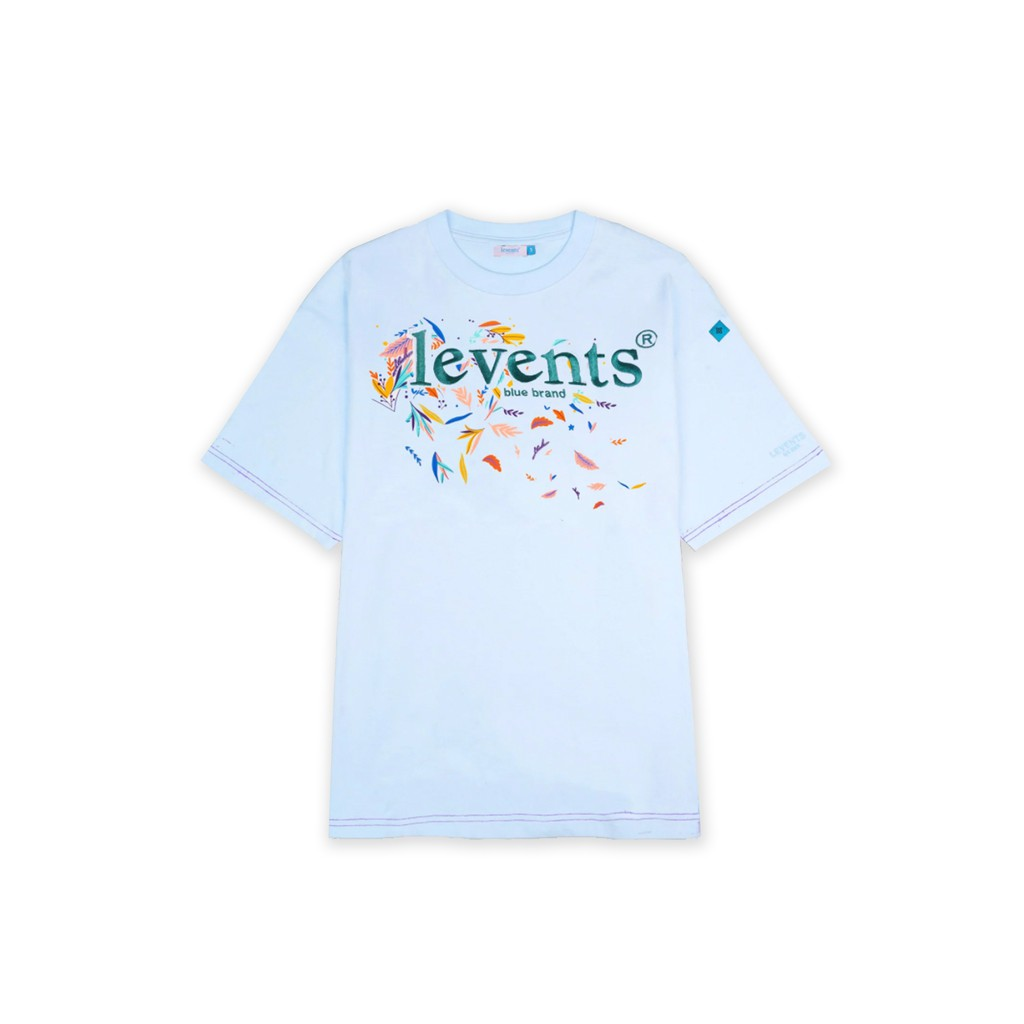 LEVENTS FLORAL TEE/ BABY BLUE