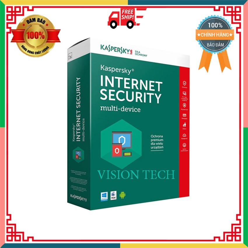 Phần mềm diệt Virus KASPERSKY Bộ sản phẩm bảo mật nâng cao máy tính cá nhân, máy Mac và thiết bị di động